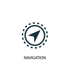 navigation icon simple element vector image