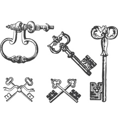 Old keys vector image
