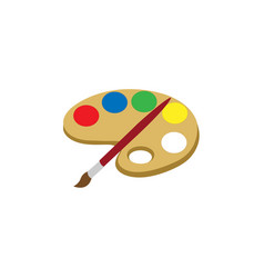 paint palette for drawing vector image