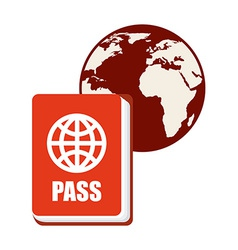 Passport world vector