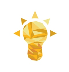 Polygonal Idea Icon with geometrical figures vector