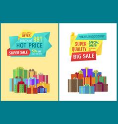 premium big discount sale vector image