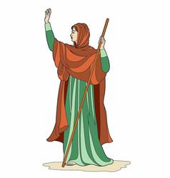Priestess scarf vector