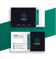 Professional elegant business card design template vector