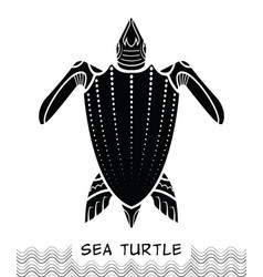 sea turtle icon 03 vector image