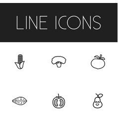 Set of 6 editable kitchenware icons includes vector