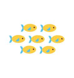 Shoal fish icon vector