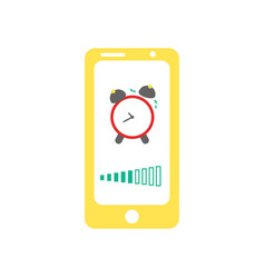 Smart phone alarm clock vector