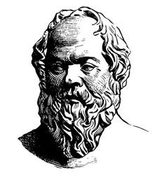 Socrates vintage vector