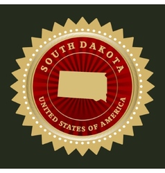 Star label South Dakota vector