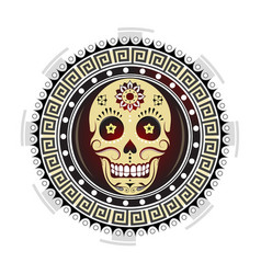 sugar skull tattoo design vector image