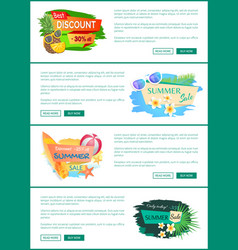 Summer proposals set poster vector