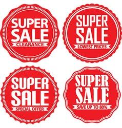 Super sale red label set vector