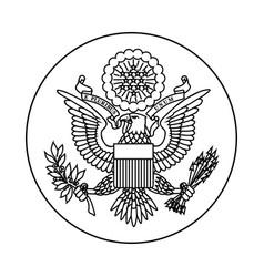 Symbol united states vector