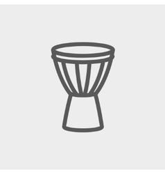 Timpani thin line icon vector image