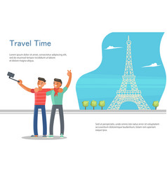 Travel banner template vector