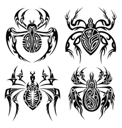 Tribal spiders vector image