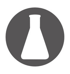 tube test laboratory isolated icon vector image