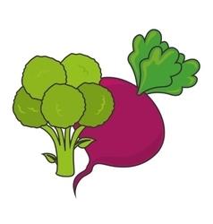 Vegetable healthy food vector