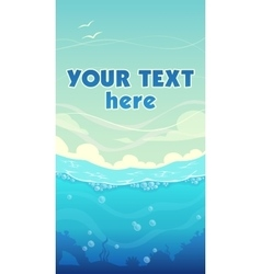 Vertical sea background vector image