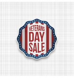 Veterans day sale realistic emblem vector