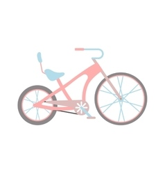Womens pink bicycle isolated on white background vector image