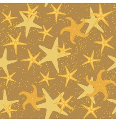 Sea stars seamless pattern vector image vector image