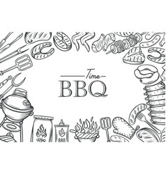 barbecue poster template vector image