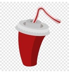 Cola or soda cartoon sign vector image
