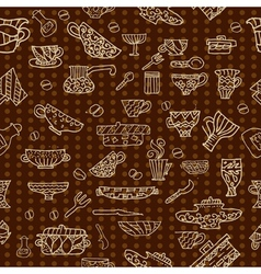 kitchen utensils background vector image