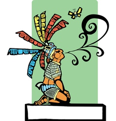 Mayan Storyteller vector image vector image