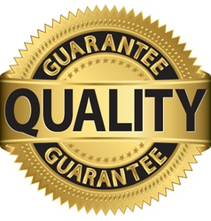 Quality guarantee gold label vector image