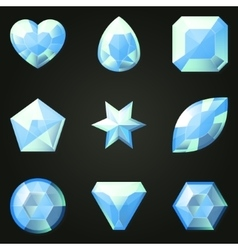Set of gemstones with different shapes vector image