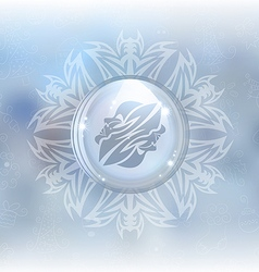 Snow globe with zodiac sign gemini vector