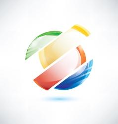 abstract glossy circle segments vector image vector image