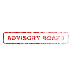 advisory board rubber stamp vector image vector image