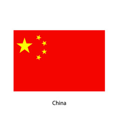 china flag official colors and proportion vector image vector image
