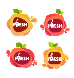 collection of bright and shine stickers emblems vector image vector image