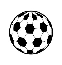color ball to play soccer icon vector image vector image