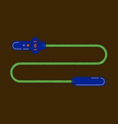 flat shading style icon jump rope vector image