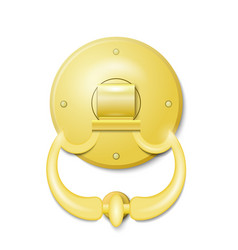 Golden door knocker vector image