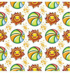 summer pattern series vector image vector image