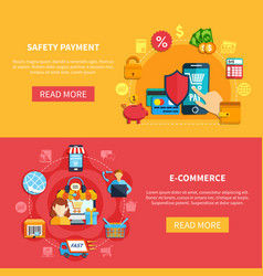 Two ecommerce banner set vector