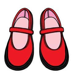 ballet shoes sketch vector image vector image