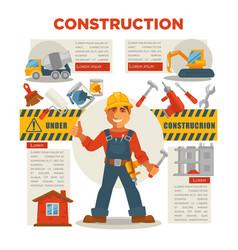 Builder gesturing thumbs up vector