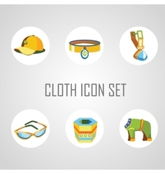 Cloth icon set for man and his dog vector image vector image