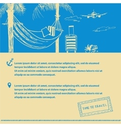 Poster on the subject of travel and tourism Hand vector image