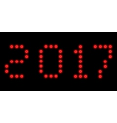 2017 led clock digits vector image