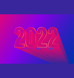 2022 futuristic new year greeting banner vector
