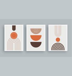 Abstract wall art painting lines and circle vector